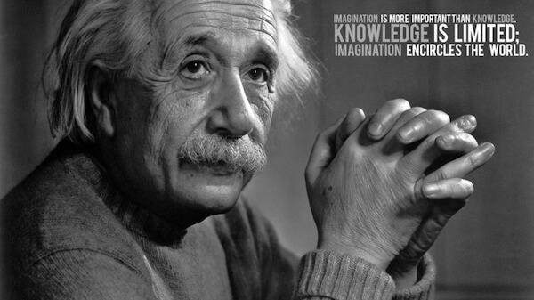 Sfondo motivante Einstein