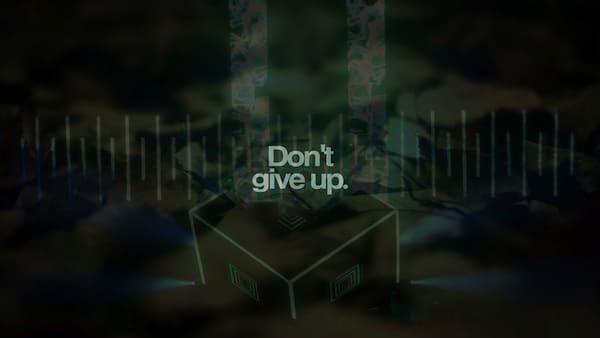 sfondo motivante - non ti arrendere