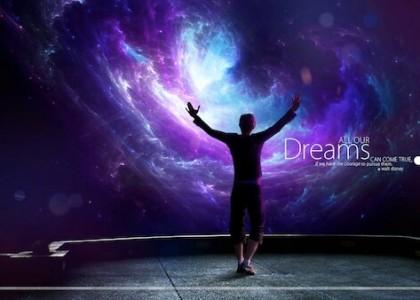 Sfondo motivante : tutti i nostri sogni possono diventare realtà, se abbiamo il coraggio di perseguirli - Walt Disney