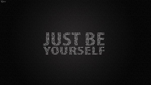 Sfondo motivante - sii solo te stesso