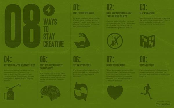 Sfondo Motivante 8 modi per rimanere creativo