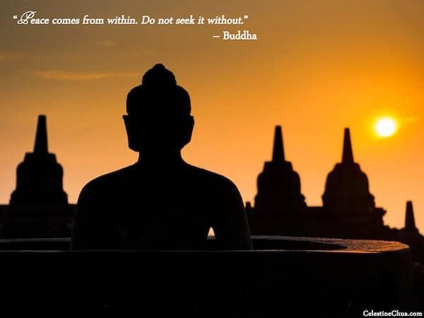 La Pace viene da dentro . Non cercarla fuori - Budda