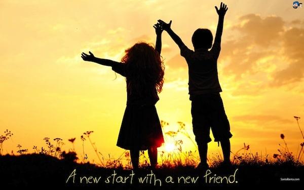 Sfondo motivante - Nuova partenza con un nuovo amico