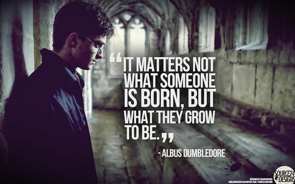 sfondo motivante : Non importa cosa si nasce , ma cosa si cresce e si diventa