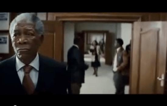 Mandela in Scena tratta dal film invictus