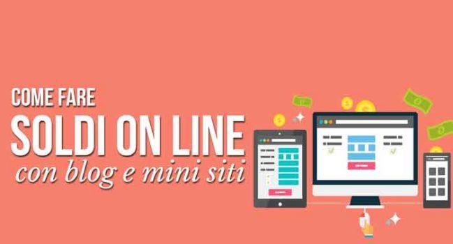 Come Fare soldi online con Blog e Minisiti consigli di Giacomo Bruno
