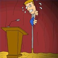 paura di parlare in pubblico immagine disegnata